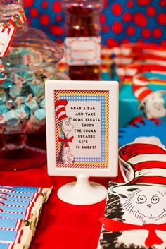 Dr Seuss' Cat in the Hat Birthday Party Ideas | Photo 8 of 50 | Catch My Party