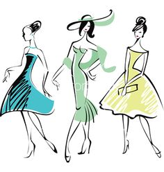 Retro fashion vector on VectorStock®