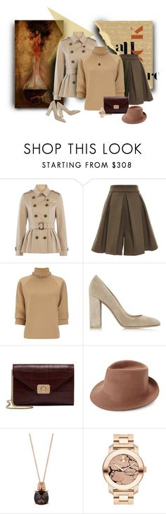 """""""Let it rain, sweetie"""" by michelletheaflack ❤ liked on Polyvore featuring Burberry, Tome, J.W. Anderson, Gianvito Rossi, Mulberry, STELLA McCARTNEY, LE VIAN, Movado and trenchcoat"""
