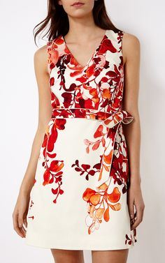 Karen Millen, FLORAL DRESS Pink/Multi