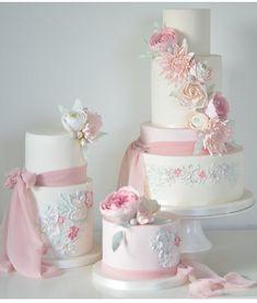 Beautiful Wedding Cakes, Beautiful Cakes, Blush Pink Wedding Cake, Wedding Bouquet, Shabby Chic Cakes, Birthday Cakes For Women, Cake Business, Fashion Cakes, Wedding Cake Inspiration