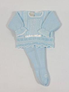 Conjuntos Algodon / Punto para Bebe - Ropa de bebés - Les bébés. classic baby clothes boy blue