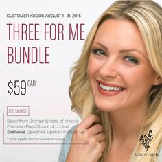Our Three for me ! We have lipstick!!!! Customer kudos , August 2015