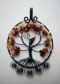 Phoenix Tree of Life Wire Wrapped Pendant by RachaelsWireGarden, $60.00