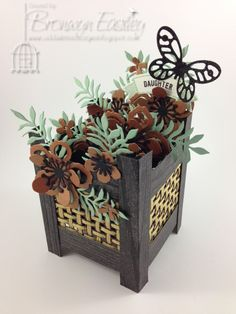 Lattice Planter Box with Copper Botanicals