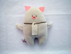 Cute Pig Soft Toy by KonfetaKroj on Etsy, $14.00 pig, felt, cotton, soft toy, hanmade, stuffed toy, sewn toy, pig toy, oink, blank tag, pig soft toy, perfect gift, baby gift, gift for kids