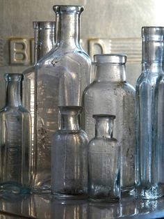 To collect a selection of different shaped bottles for a home is a great hobby to have!