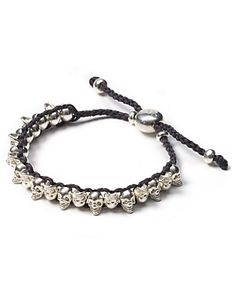 "Links of London Mini ""Skull"" Gray Friendship Bracelet 