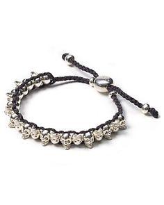 "Links of London Mini ""Skull"" Gray Friendship Bracelet | Bloomingdale's"