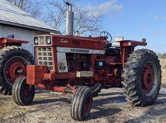 International Tractors, International Harvester, Case Ih Tractors, Rubber Tires, Farming, Red, Tractors