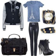 """""""Varsity Blues #Outfit #Styling"""" by gucci80 on Polyvore"""