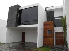 Resultado de imagen para fachadas de casas minimalistas de dos plantas #fachadasminimalistascantera