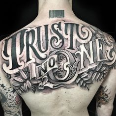 Check out tons of great examples of lettering tattoos. Below you'll find tons of ideas & designs as well as many cool images of lettering tattoos. Tattoo Font For Men, Tattoo Lettering Styles, Chicano Lettering, Type Tattoo, Sick Tattoo, Tattoo Script, Calligraphy Tattoo Fonts, Chicano Tattoos Sleeve, Body Art Tattoos
