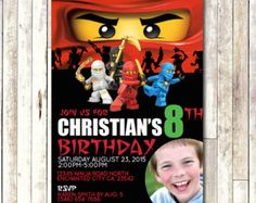 Ninjago Invitation CUSTOMIZED Printable Photo by CocoDelava