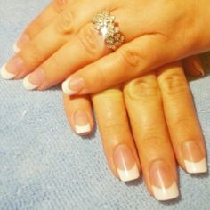 White tip french acrylic nails. #ctdaytonails