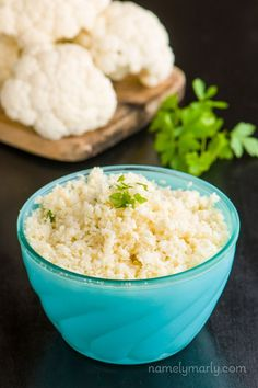 How to Make Cauliflower Rice - with step-by-step photos. You'll love using Cauliflower Rice in place of regular rice - it saves a lot of calories!