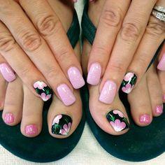Manicure Pedicure Matching Articles Ideas For 2019 Pedicure Colors, Pedicure Designs, Toe Nail Designs, Pedicure Ideas, Summer Toe Nails, Beach Nails, Summer Pedicures, Cute Toe Nails, Toe Nail Art