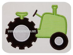 Old Time Tractor Applique Momma Machine Applique Designs, Applique Embroidery Designs, Machine Embroidery Applique, Applique Patterns, Etsy Embroidery, Applique Quilts, Tractor Quilt, Farm Quilt, Applique Momma