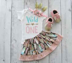 Wild One First Birthday Outfit girl first by noellebydesign