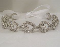 Rhinestone Bridal Headband ATHENA  by BellaCescaBoutique on Etsy, $46.50