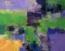 Juillet 2013-1 - Original peinture à l'huile abstraite - 72,7 x 72,7 cm (env. 28,6 x 28,6 pouces)