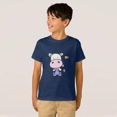 Cute Little Cow Cody Kids T-shirt - simple clear clean design style unique diy