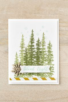 The evergreen trees from the Wonderland stamp set are absolutely gorgeous!