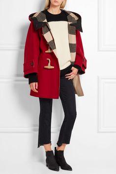 Burberry | Oversized wool-blend duffle coat | NET-A-PORTER.COM