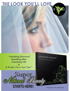 A Wrap could be part of the Something New. Give it a try for that Special Day Ultimate Body Applicator, Cream Contour, Crazy Wrap Thing, Body Contouring, New You, Something Old, Have You Tried, Super Natural, You Are Beautiful