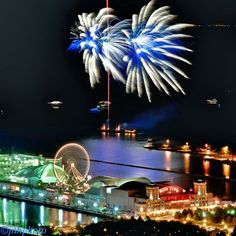 Fireworks at Navy Pier in Chicago-John Harrison