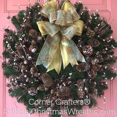 COUNTRY CHRISTMAS WREATH | ArtificialChristmasWreaths.com | CHRISTMAS WREATHS