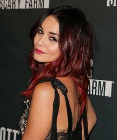 Vanessa Hudgens : le blond ombré ou le tie and dye rouge ? - fr.hair-style.ca