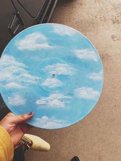 Vinyl Skies Is A Nice Surprise - Painting Art Inspo, Kunst Inspo, Inspiration Art, Aesthetic Painting, Aesthetic Art, Art Cd, Art Music, Art Sketches, Art Drawings