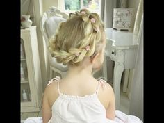 Pull Through Crown Braid with Baylee! By SweetHearts Hair. - YouTube