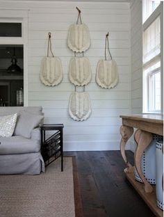 White horizontal wood paneling. DS - Good on horizontal paneling, just want to get right width/size.