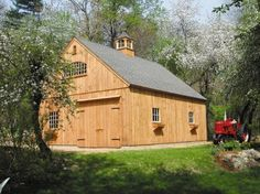 Traditional Product Galleries, This 24x30-ft. one-story country barn was built using a kit from Country Carpenters.