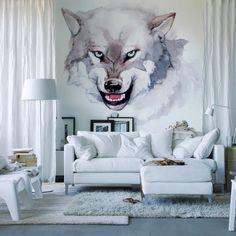 Wall Mural Photo Wallpaper EASY-INSTALL Fleece Wolves Wildlife Animals EXCLUSIVE
