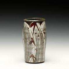 Phil Rogers   Vase   Hakeme w/ Iron Brush Pattern