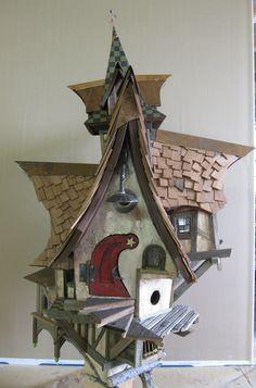 crooked birdhouse