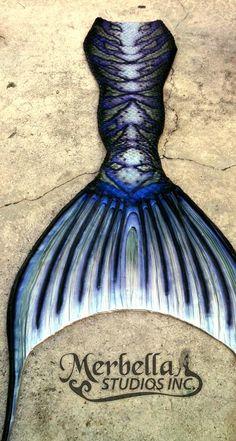Full silicone tail by Mermaid Raven of Merbella Studios Inc.