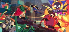 Super Time Force Ultra is an insane platformer filled with robots and dinosaurs and fun and time travel... sometimes all at the same time!