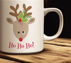Holiday Coffee Mug | Rudolph the Red Nosed Reindeer Coffee Mug | Custom Christmas Coffee Mug | Christmas Gift Idea