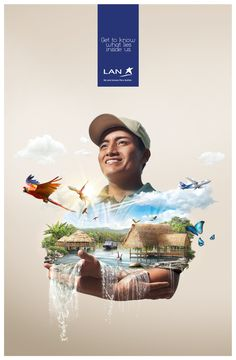 LAN Airlines 40 New Funny and Creative Advertising Examples Creative Advertising, Ads Creative, Advertising Design, Creative Design, Advertising Agency, Creative Director, Lan Airlines, Design Food, Ad Design