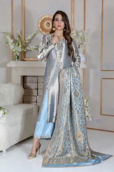Oyster Pink Gota Patti Work Suit with Dupatta Pakistani Wedding Outfits, Pakistani Dresses, Indian Dresses, Indian Outfits, Wedding Hijab, Indian Designer Outfits, Designer Dresses, Pakistani Designer Clothes, Pakistani Clothing