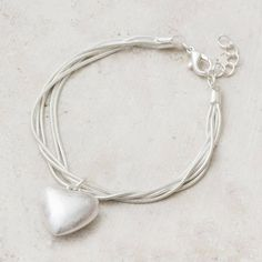 Nala Silver Personalised Heart Bracelet