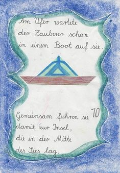 Selbstgemachtes Lesebuch - 2. Klasse Social Security, Origami, Personalized Items, Cards, Preschool, Writing On Chalkboard, Teaching Art, Math Education, Stories For Children