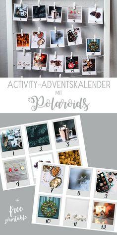 Activity-Adventskalender mit Polaroids