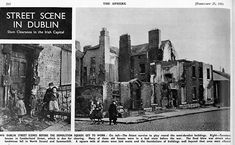 Tenements being cleared to make way for new flats in city centre Dublin. Photos from the Sphere newspaper in City Centre Dublin, Dublin City, Old Pictures, Old Photos, Dublin Street, Photo Engraving, Make Way, Round House, Slums
