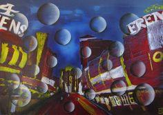 Bubbles Las Vegas von MJ-Arts auf DaWanda.com