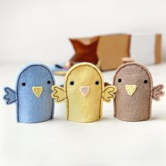 Make Your Own Bird Finger Puppets Kit - Sewing Kit, Activity Kit